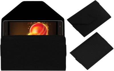ACM Pouch for Intex Aqua Lions 3G(Black, Cases with Holder, Artificial Leather) Flipkart