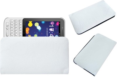 ACM Pouch for Karbonn Smart A51q White, Cases with Holder