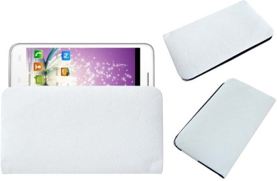 ACM Pouch for Micromax Canvas Blaze Mt500 Mts White, Cases with Holder