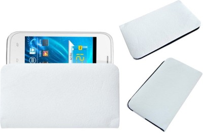 ACM Pouch for Spice Smart Flo Ivory 2 Mi-423(White, Cases with Holder)