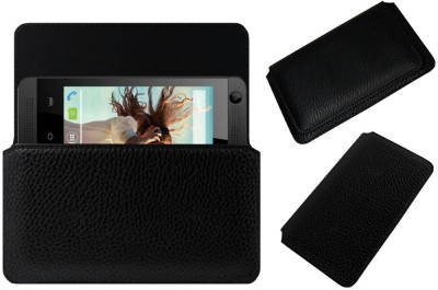ACM Pouch for Lava Iris 360 Music(Black, Cases with Holder, Artificial Leather)