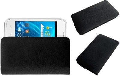 ACM Pouch for Spice Smart Flo Ivory 2 Mi-423(Black, Cases with Holder)