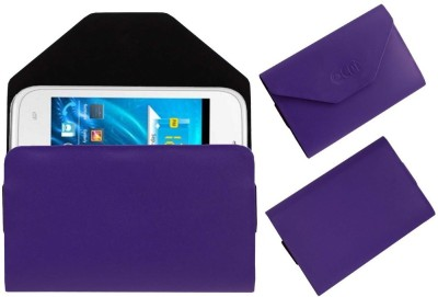 ACM Pouch for Spice Smart Flo Ivory 2 Mi-423(Purple, Cases with Holder)