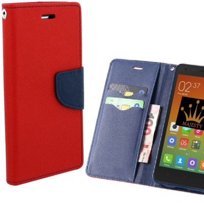 G-TONG Wallet Case Cover for Motorola Moto E3 Power(Red, Shock Proof, Artificial Leather)