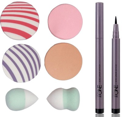 Oriflame Sweden The ONE Eye Liner Stylo 0.8ml ( Black - 30475 ) With Puff Sponge(Set of 7)  available at flipkart for Rs.499