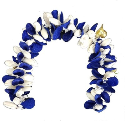 Confidence Unique Hair Gajra (Veni) Hair Accessories (Blue And White) Hair Accessory Set(Blue, White)