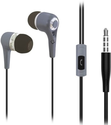 Edfigo EDF-9 Wired Wired Headset with Mic(Black, In the Ear)