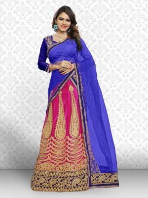 Yamuna Fashion Self Design Ghagra, Choli, Dupatta Set(Multicolor)