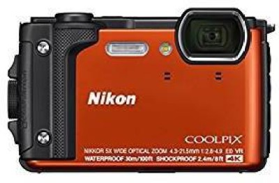 Nikon Coolpix Coolpix W300 (Orange) Point and Shoot Camera(50 MP, 5X Optical Zoom, YES Digital Zoom, Orange)  available at flipkart for Rs.29950