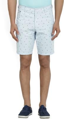 Indigo Nation Printed Men's Blue Chino Shorts