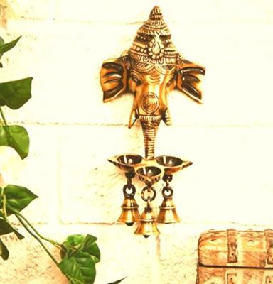 Compare aakrati wall hanging three diya oil lamp showpiece 25 cm ...