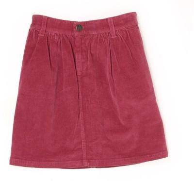U.S. Polo Assn Solid Girls A-line Maroon Skirt