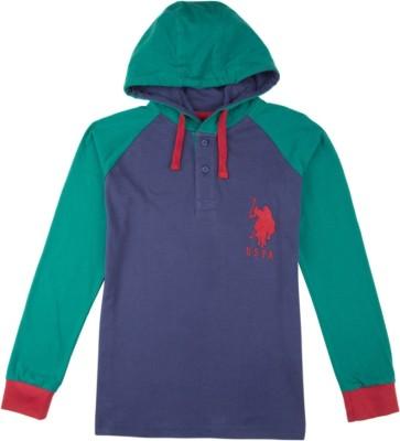 U.S. Polo Assn Full Sleeve Solid Boys Sweatshirt