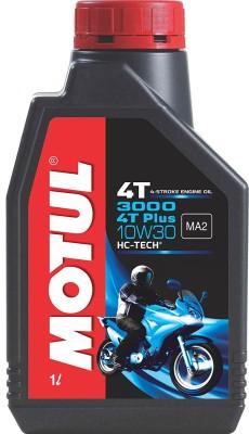 MOTUL 3000 4T Plus 10W30 Engine Oil for Bikes Plus HC-Tech Synthetic Blend Engine Oil(1 L)