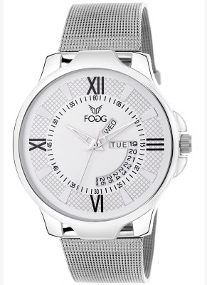 Fogg 2043-WH Day And Date Analog Watch For Men