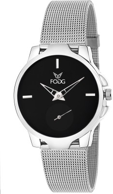 Fogg 4052-BK Separate Second Hand Analog Watch For Women