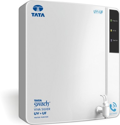 Tata Swach Viva Silver 6 L UV + UF Water Purifier(White)