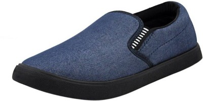 Lee Won LOAFER Slip On Sneakers For Men(Blue, Navy)  available at flipkart for Rs.249