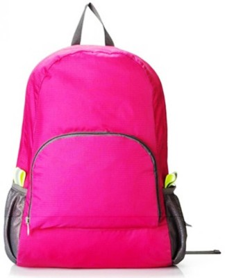 GOCART Polyester Waterproof Foldable Backpack Hiking Bag Outdoor Sports Bicycle Camping bag Mountaineering Climbing Travel 5 L Backpack(Pink)  available at flipkart for Rs.335