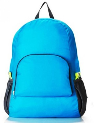 GOCART Polyester Waterproof Foldable Backpack Hiking Bag Outdoor Sports Bicycle Camping bag Mountaineering Climbing Travel Blue bag Waterproof Backpack(Blue, 5 L)  available at flipkart for Rs.339