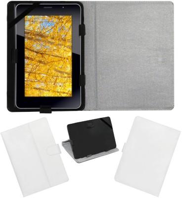 ACM Flip Cover for iBall Slide 3G 7271(White, Cases with Holder)
