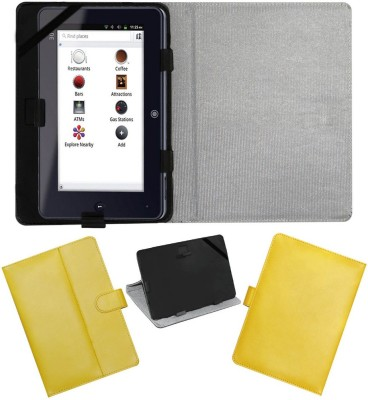 ACM Flip Cover for Iball Slide I7218(Yellow, Cases with Holder)