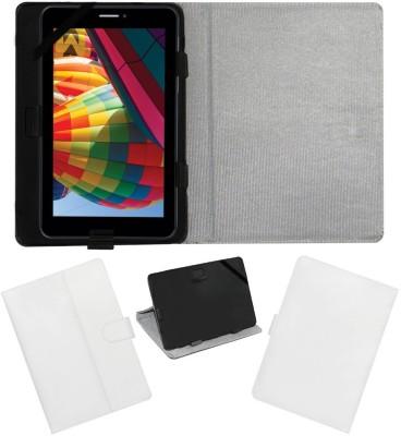 ACM Flip Cover for Iball Slide Q7271-Ips20 3g(White, Cases with Holder)