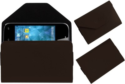 ACM Pouch for Spice Smart Flo Space Mi-354(Brown, Cases with Holder)