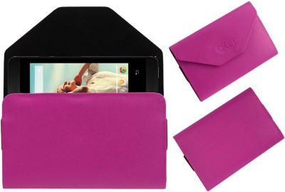 ACM Pouch for Lava Iris 360 Music(Pink, Cases with Holder, Artificial Leather)