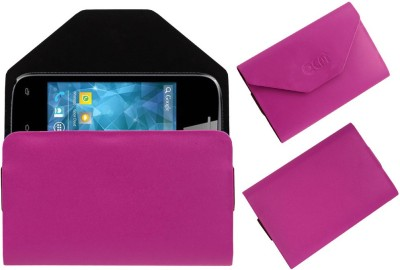 ACM Pouch for Spice Smart Flo Space Mi-354(Pink, Cases with Holder)