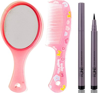 Oriflame Sweden The ONE Eye Liner Stylo 0.8ml ( Black - 30475 ) With Mirror & Comb Set(Set of 3)  available at flipkart for Rs.499
