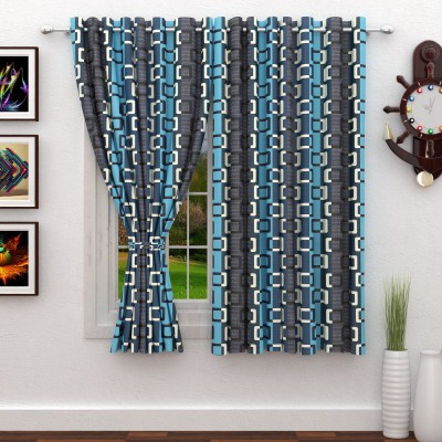 Story@Home 152 cm (5 ft) Polyester Window Curtain (Pack Of 2)(Abstract, Grey) at flipkart