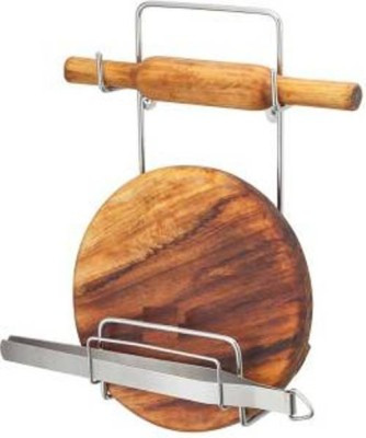 KITCHEN DESIGN CHAKLA BELAN STAND Stainless Steel Kitchen Rack(Silver)  available at flipkart for Rs.230