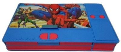 Osilor Premium Jumbo Series Spiderman Movie Character Art Plastic Pencil Box(Set of 1, Blue)
