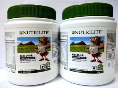 Amway Chocolate Flavour Nutrilite Kids Drink - 1000 g Pack Of 2(1000 g)