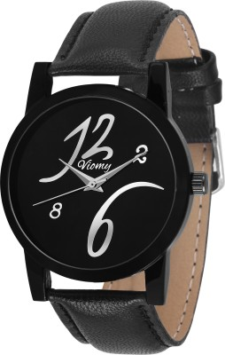 VIOMY GS2008 Black Dial with stylish Numerical number on dial for Men's & Boy's Watch - For Men