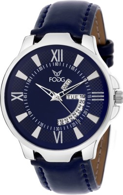 Fogg 1134-BL Day And Date Analog Watch For Men
