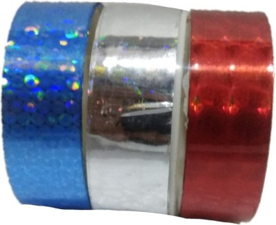 Shreeji Decoration Blue,Silver,Red 3D Hand Glitter Small Tape For Art & Craft,Decoration,School Projects,Festivals,Cutlery Packing,Office  available at flipkart for Rs.75