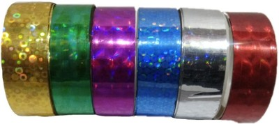 Shreeji Decoration 6 Pcs 3D Hand Glitter Small Tape For Art & Craft,Decoration,School Projects,Festivals,cutlery Packing,Office  available at flipkart for Rs.89