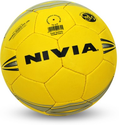 Nivia Super Synthetic Football - Size: 5(Pack of 1, Yellow)  available at flipkart for Rs.563