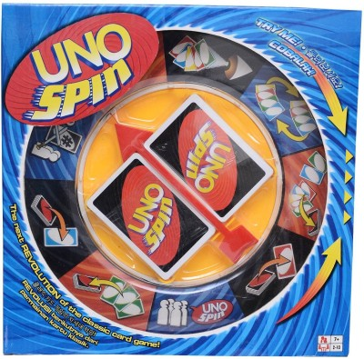 M-Alive New UNO Spin The Wheel Card party Game(Multicolor)  available at flipkart for Rs.499