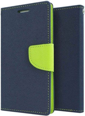 Loopee Flip Cover for Micromax a310(Blue, Dual Protection, Artificial Leather, Cloth, Rubber, Silicon)