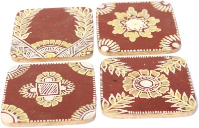 Ivei Square Wood Coaster Set(Pack of 4) at flipkart
