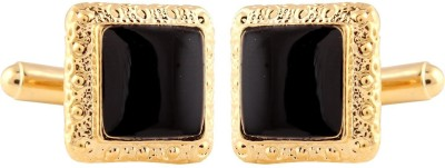 Miami Gold, Brass Cufflink(Black, Gold)