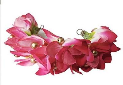 Majik Bridal Bun Decoration Gajra / Hair Flowers For South Indian Brides Bun, Hair Accessory Set(Pink)