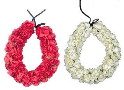 Confidence Artificial Hair Gajra Combo (Red+White) Hair Accessory Set(Red, White) Flipkart