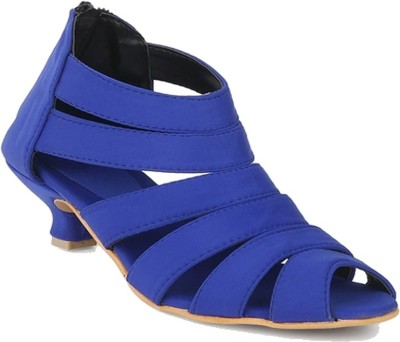 Glitzy Galz Girls Sling Back Heels(Blue)