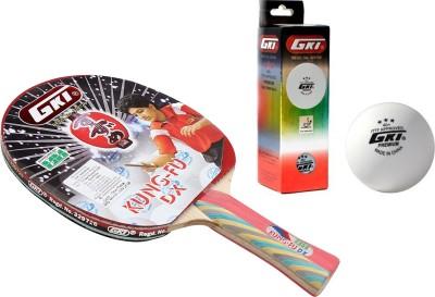 GKI Kung Fu DX Table Tennis Combo Set (Kung Fu DX Table Tennis Racquet + Premium 3 Star 40 Table Tennis Ball, Box of 3 - White) Table Tennis Kit  available at flipkart for Rs.1399