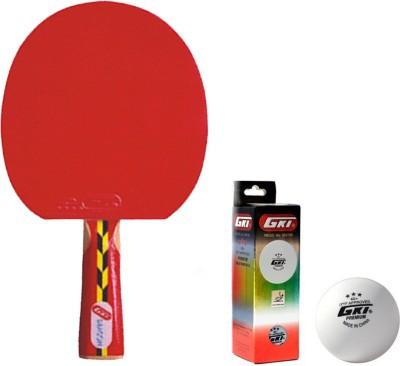 GKI Dragon Table Tennis Combo Set (Dragon Table Tennis Racquet + Premium 3 Star 40 Table Tennis Ball, Box of 3 - White) Table Tennis Kit  available at flipkart for Rs.1179
