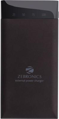Zebronics MC15000PD Lithium Polymer Power Bank, 15000 mAh (Black)